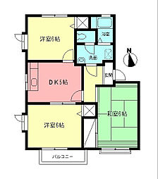 ウエストハイム[2階]の間取り