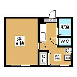コテージ高田[2階]の間取り