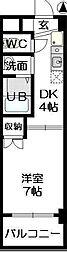 FULLHOUSE YAGOTO[5階]の間取り