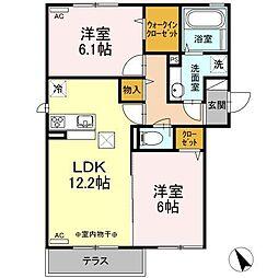 仮)D−room新井田西[1階]の間取り