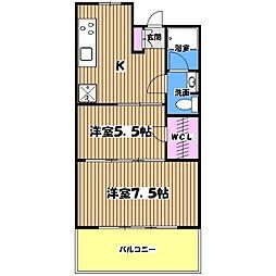 メゾン三鷹[3階]の間取り