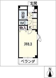 ラ・ロッシェル[2階]の間取り