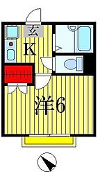 D・B・M松戸[1階]の間取り