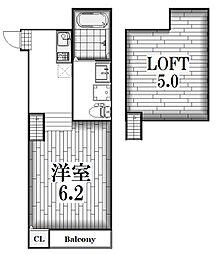 H&S黒川[1階]の間取り