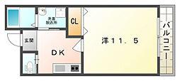 フェリーチェ古川橋[2階]の間取り