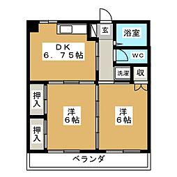 ALIVIO K[3階]の間取り