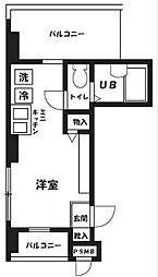 東京都大田区東矢口2丁目の賃貸マンションの間取り