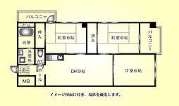 倉本ビル--[301号室]の間取り
