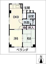 ファミーユ千代田[3階]の間取り