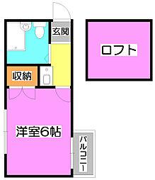 メリディアン上福岡[2階]の間取り