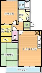 ポサーダ平田[3階]の間取り