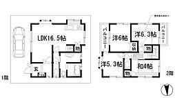[一戸建] 兵庫県伊丹市池尻5丁目 の賃貸【/】の間取り