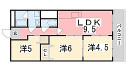 インタービレッジ坂田町[603号室]の間取り