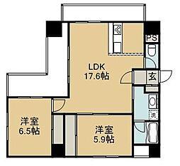 エコルクス赤坂[7階]の間取り