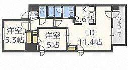 北海道札幌市中央区北三条東7丁目の賃貸マンションの間取り
