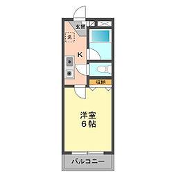 東京都江戸川区東小岩6の賃貸マンションの間取り