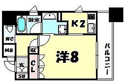 リーガル南船場II[8階]の間取り