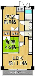 REBANGA武庫之荘アパートメント[2階]の間取り