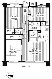 東京都板橋区桜川3丁目の賃貸マンションの間取り
