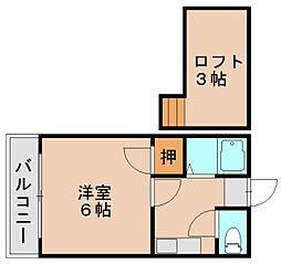 エスピエル原田[1階]の間取り