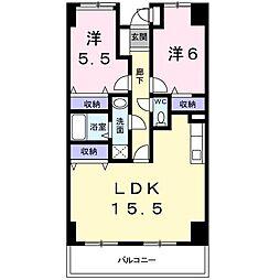 神奈川県相模原市中央区相模原6丁目の賃貸マンションの間取り