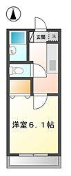 サニーヴィラ 6c[2階]の間取り