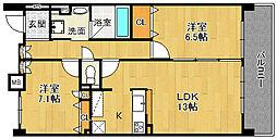 KDX宝塚レジデンス[702号室]の間取り