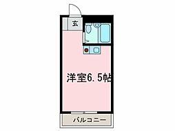 アースシティ田尻[2階]の間取り