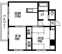 北海道札幌市清田区平岡一条4丁目の賃貸マンションの間取り