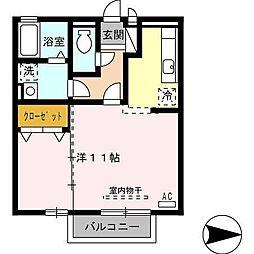 ボナール伏見[2階]の間取り