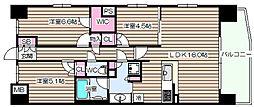S-GLANZ大阪同心[5階]の間取り