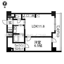 エストーネ京都二条902[9階]の間取り