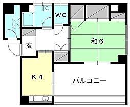 和田ビル[302 号室号室]の間取り