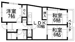 富士梶町マンション[0401号室]の間取り