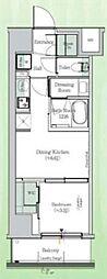 東京メトロ東西線 東陽町駅 徒歩23分の賃貸マンション 3階1DKの間取り