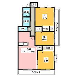 Will Square 和[3階]の間取り