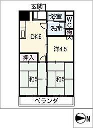 DIMANCHE-SHIMIZU[2階]の間取り