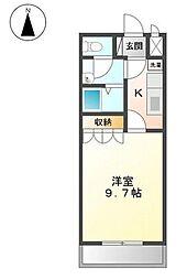 ファベールAKAGI[2階]の間取り