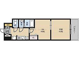 Osaka Metro長堀鶴見緑地線 京橋駅 徒歩3分の賃貸マンション 6階1DKの間取り