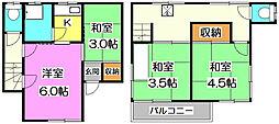 代々城アパート東側[2階]の間取り