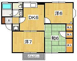 サンハイツII(国府津)[202号室号室]の間取り