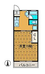 セゾン鶴川[1階]の間取り