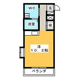 Raduno東静岡[4階]の間取り