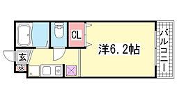 ワコーレ下沢[607号室]の間取り