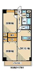 東京都府中市本宿町2丁目の賃貸マンションの間取り