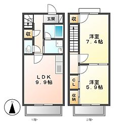 ホームアリウム[1階]の間取り