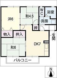 ビーチブリーズIII[1階]の間取り