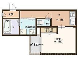 グランティックプレジール[2階]の間取り