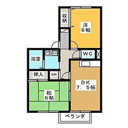 エスペラントアサノ[2階]の間取り
