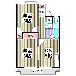 リブレス砂新田[1階]の間取り